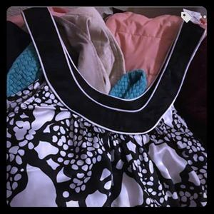 Halter black and white silk from Rampage
